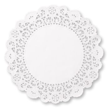 Brooklace Paper Lace 4-inch Doilies, White (200 pack)