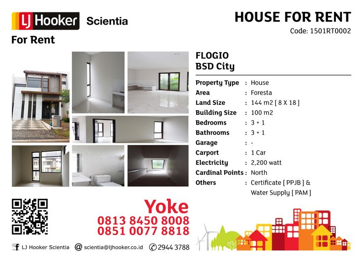 FOR RENT: Flogio @ Foresta, BSD City