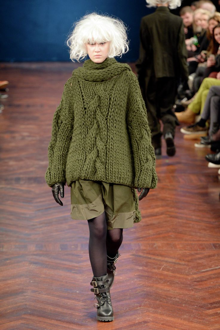 Ivana hated having to wear great uncle Otto's hunting sweater hand-me-downs to parties.  Ivan Grundahl Copenhagen Fashion Week