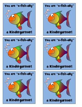 O-fish-ally in Kindergarten labels to attach to goldfish snacks! :)