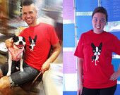 Boston terrier Red ADULT T Shirt The Adventures of Mirabelle