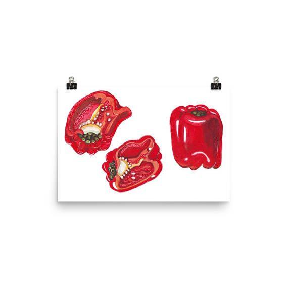 #foodwallart  #foodart  #redpepperart  #redpepperpainting