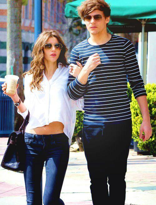 1D's Louis Tomlinson with girlfriend Eleanor Calder...
