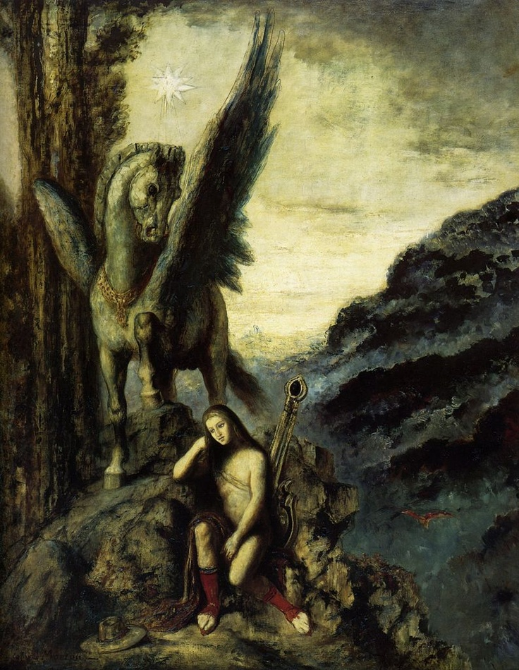 'The Travelling Poet', 1891, Musée Gustave Moreau, Paris