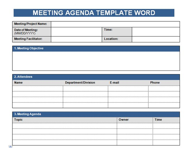 Get Free Meeting Agenda Template In Word u2013 Microsoft Excel - agenda template word