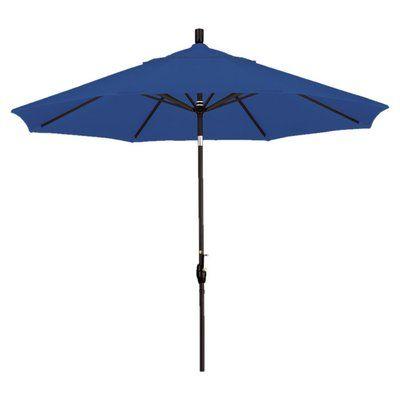 California Umbrella 9' Callista Indoor/Outdoor Market Umbrella Color: Pacific Blue