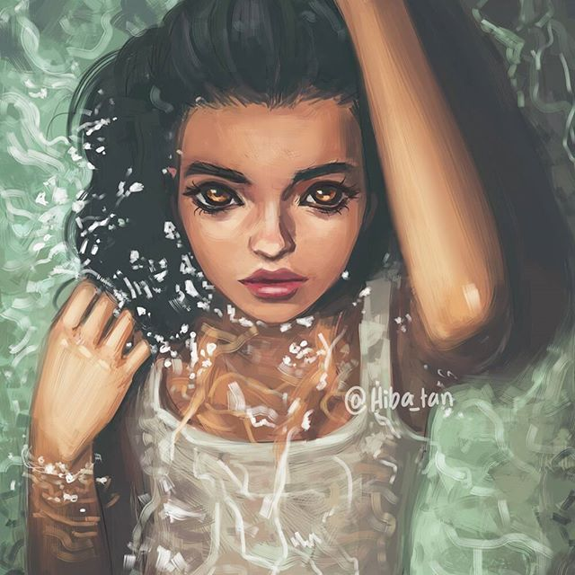 Photo study practicing water 😸 ref from @harisnukem 💙 I know I mentioned this before but ppl are still asking in comments/DMs: I use Paint tool Sai and my brush settings are on @hibayume  #art #artist #study #practice #draw #drawing #color #realism #semirealism #digital #painting