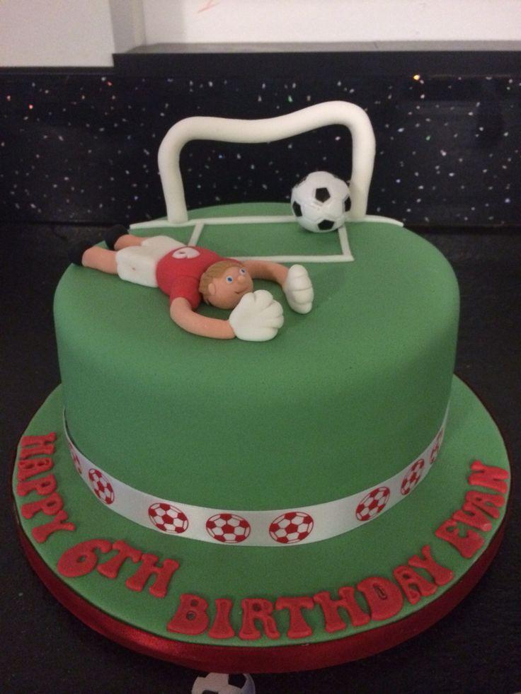 Goalkeeper themed cake