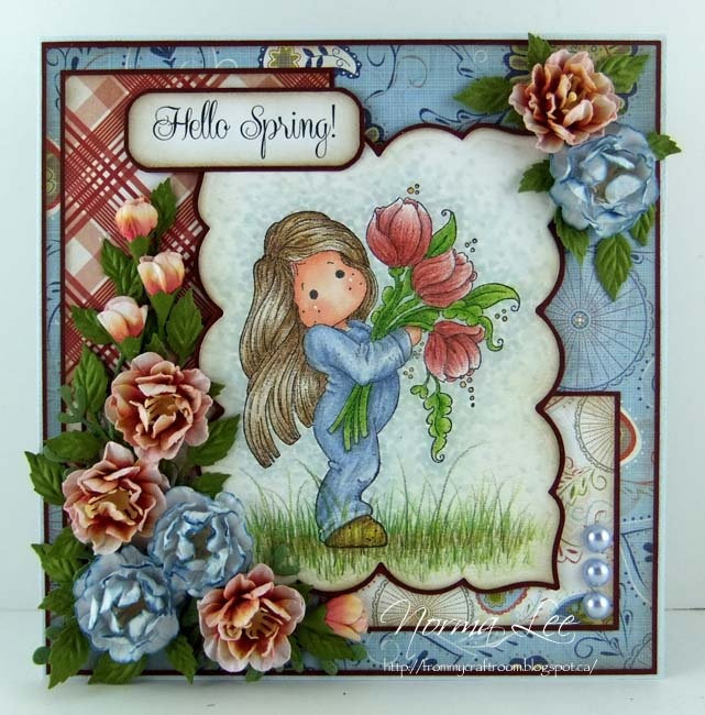 Hello Spring! Card Using Magnolia Stamps From Magnolia Licious By Norma Lee  Of From
