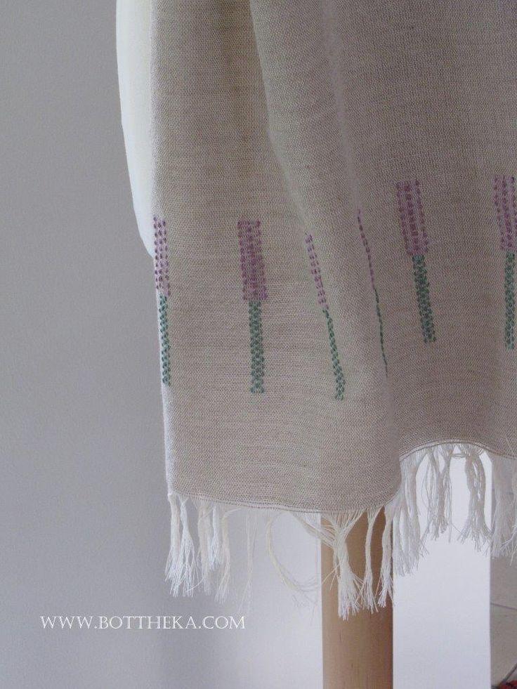 Weaving marathon 2015 - 1/3 Lavender linen scarf http://bottheka.com/en/13