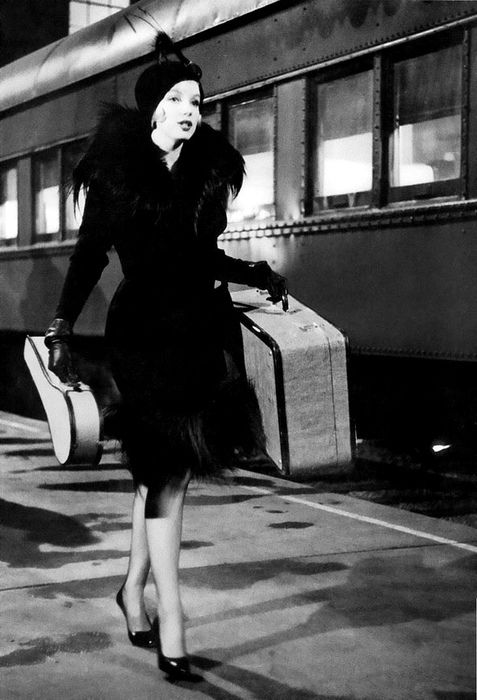 when traveling was a fashion trip ` Marilyn Monroe sports a sassy number in the movie SOME LIKE IT HOT.