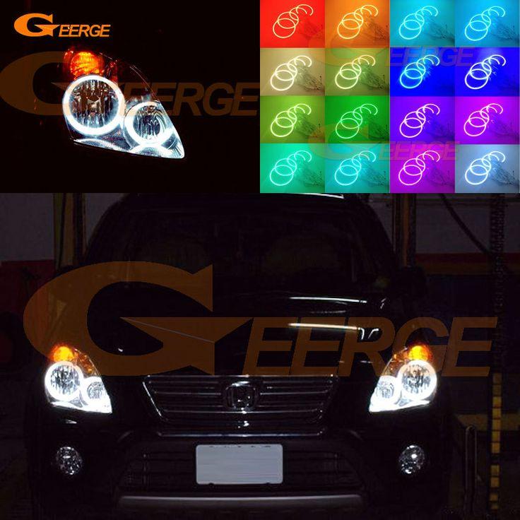 For Honda CR-V CRV 2005 2006 Excellent Angel Eyes Multi-Color Ultra bright RGB LED Angel Eyes kit Halo Rings