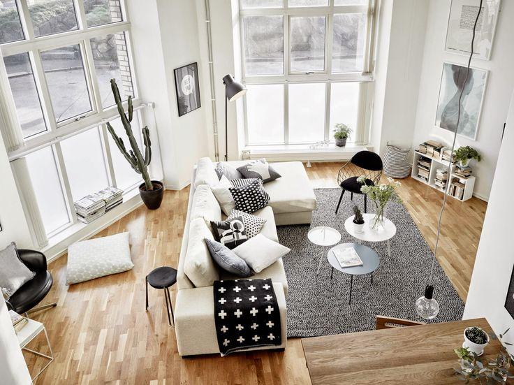 Un dúplex en blanco y negro fabuloso en Gotemburgo