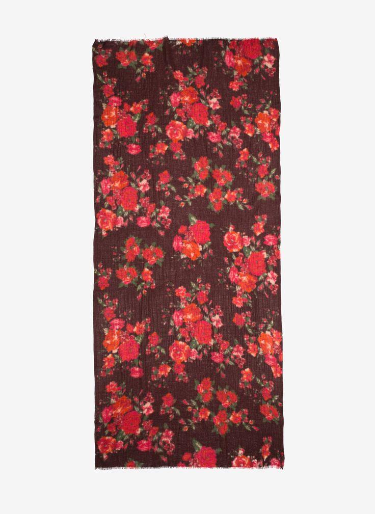 Floral foulard scarf - Foulards - Accessories - Uterqüe Spain