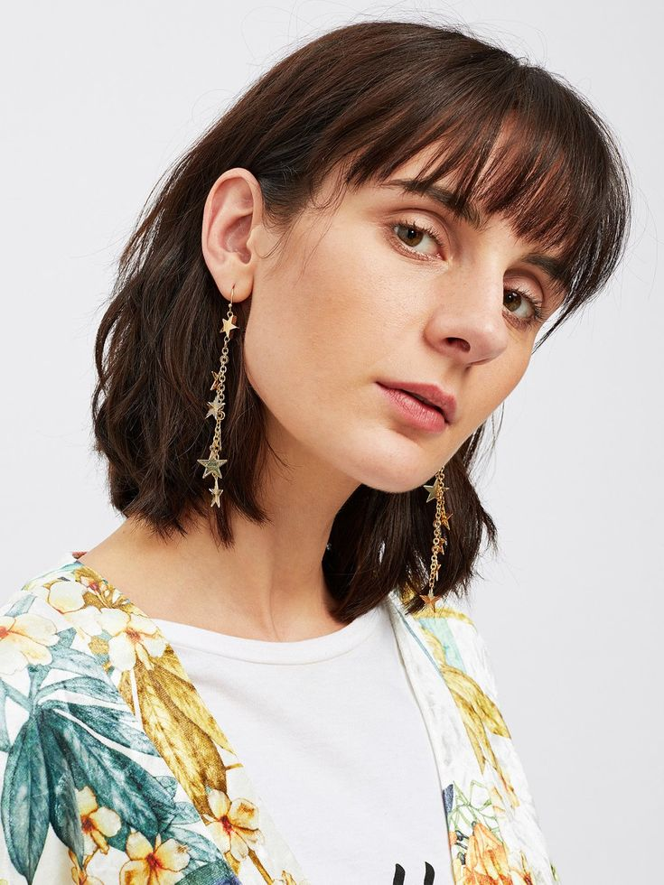 No Stone. Gold colored metal. Dangle Perfect choice for Casual, Cute wear. Designed in Gold.