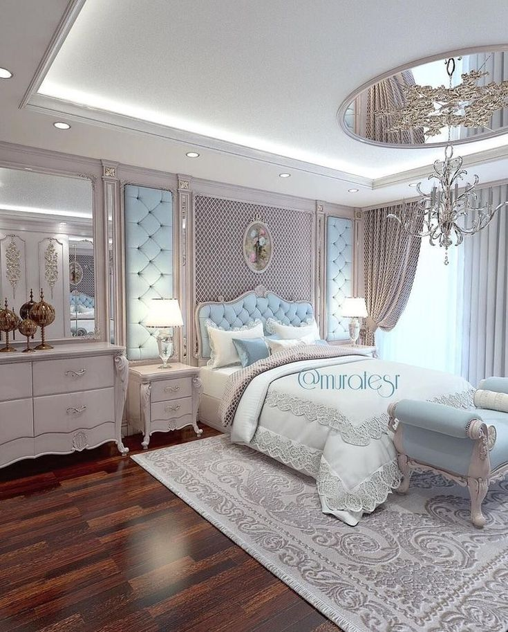 Nice accent rug under bed (With images) Glamourous bedroom