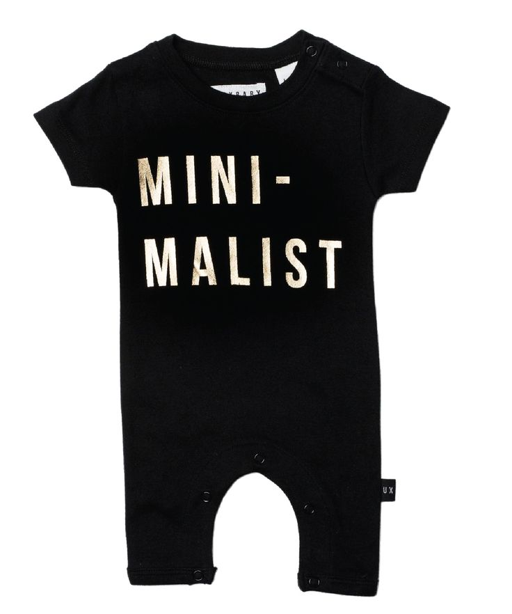 Huxbaby Organic Minimalist Romper | Cool Baby Clothes | Tiny Style | Australia