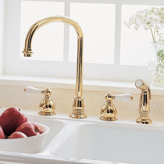 American standard hampton 2 handle high arc kitchen faucet for Bathroom fixtures san jose