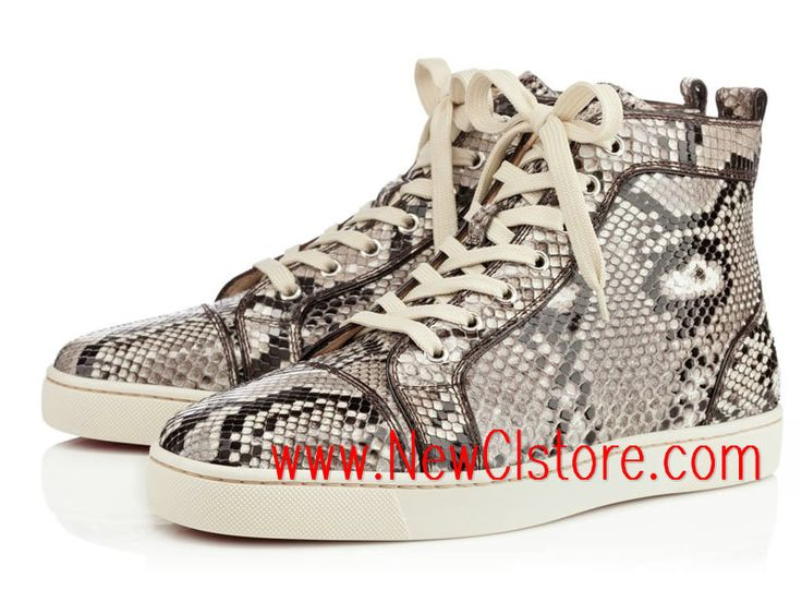 louboutin sneakers homme python