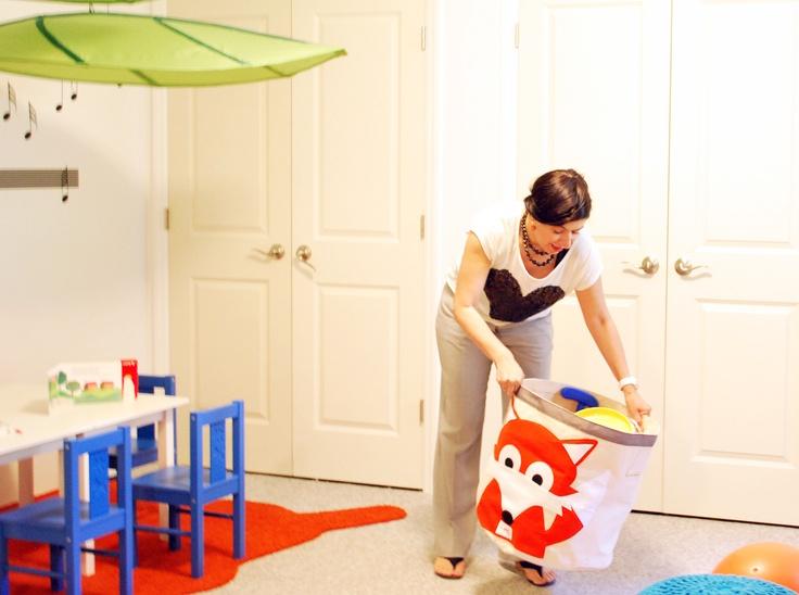 kids playroom interior design in basement, designed by Ada Gonzalez