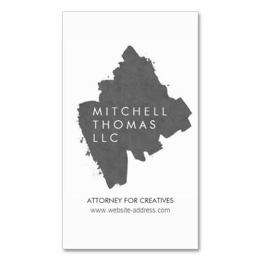 17 best attorney and lawyer business cards images on pinterest gray brush strokes business card template for attorneys lawyers easy to personalize fully reheart Images
