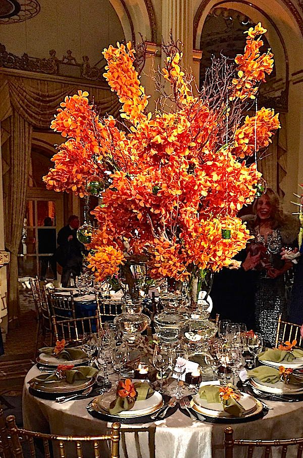 Gorgeous tablescape at the 2016 Orchid Dinner, posted on one of our favorite blogs, Quintessence
