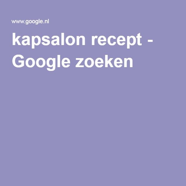 kapsalon recept - Google zoeken
