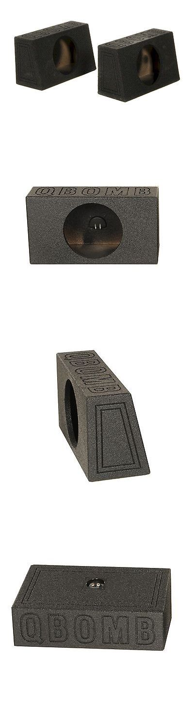 Speaker Sub Enclosures: (2) Q-Power Q-Bomb Qtw12 Single 12 Sealed Subwoofer Sub Boxes W/Bedliner Spray BUY IT NOW ONLY: $51.99