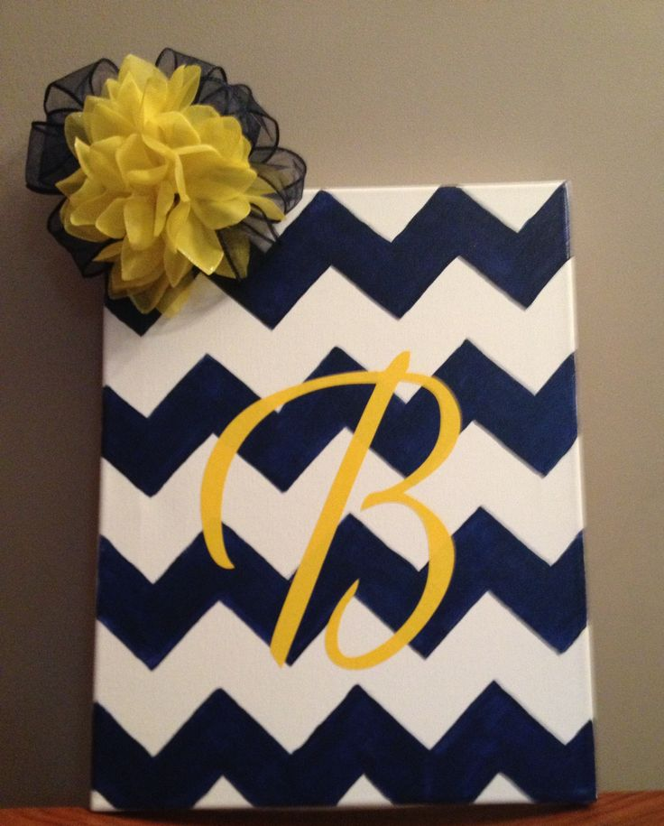 Chevron canvas painting, such a good gift for someone using the colors to match their house/room!