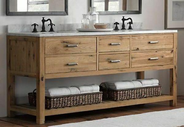 Ber ideen zu badezimmerschr nke auf pinterest for Badschrank doppelwaschbecken