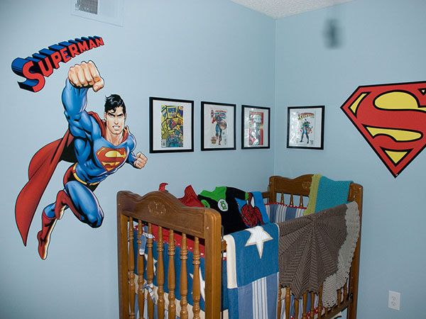 73 best images about toddler boys bedroom on pinterest loft beds superhero room and toddler bed - Superman room decorating ideas ...