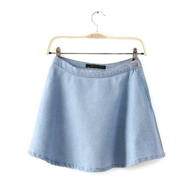 Vintage High Waist Jeans Skirt - Ashlays - 3