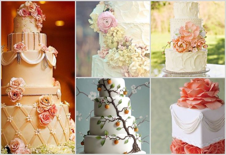 Красивые свадебные торты. Beautiful wedding cakes.