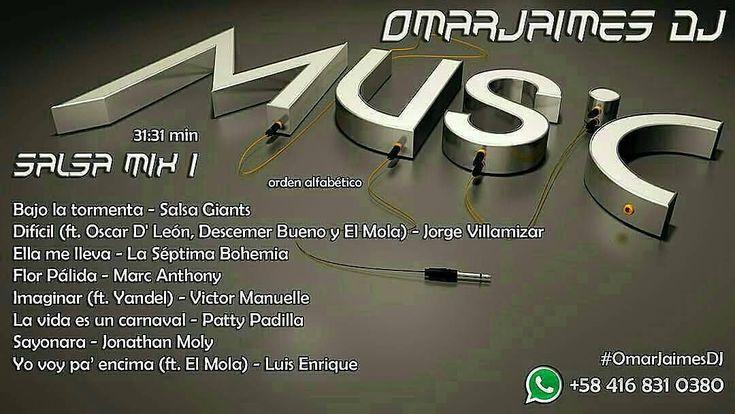 #TUDJSINDJ ADQUIERE TU #mp3 SET MÚSICA MEZCLADA SIN ESPACIOS EN BLANCO NI PUBLICIDAD a la distancia de un enlace por e-mail Ideal para eventos reuniones sitios de trabajo. #Musica #Music #salsa #salsamusic Pagos por #amazon #giftcard #Venezuela #Colombia #Worldwide Envío por #email WhatsApp: 58 416-831-0380 escríbeme #OmarJaimesDJ #dj #mix