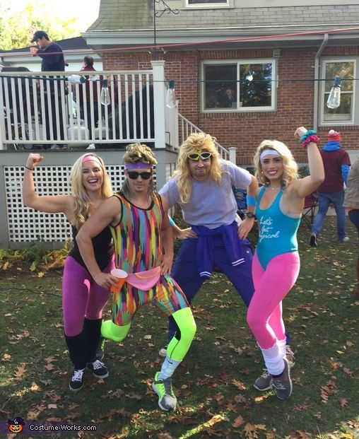 Toni: Me and my friends all got together and dressed up as 80's workout people!. Photo 2 of 2.