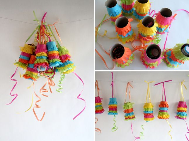 Pull Piñata Garland   20 Ways to Make a Piñata