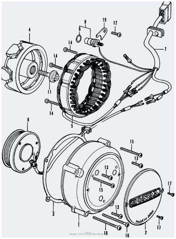 honda cb350 electrical diagram alternator diagram honda cb350f drawings  honda cb 350 four for excellent honda cb350 electrical diagram