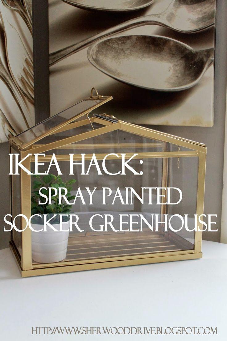 Ikea Hac: Faux Brass Greenhouse
