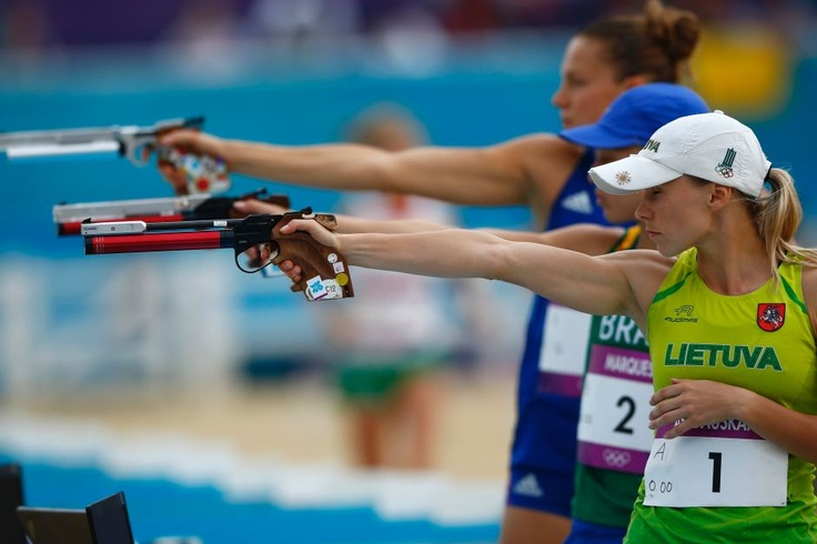 Day 16 - Laura Asadauskaite shoots for gold -   Lithuania's Laura Asadauskaite competes in the combined event of the women's modern pentathlon during the London 2012 Olympic Games at Greenwich Park on August 12, 2012.