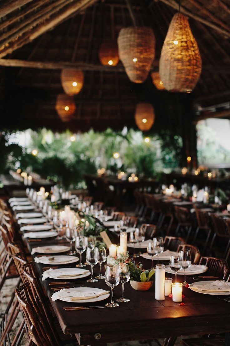 Elegant dinner table setting - Inside Kate Brien And David Kitz S Tulum Wedding Photos