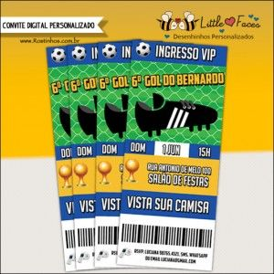 Convite Festa Futebol - Ingresso