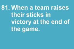 Hockey victory