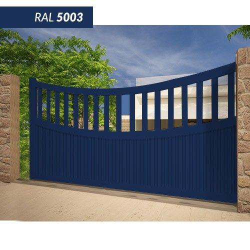 Portail EMALU BENGAL coulissant -fabrication 100% aluminium. Une gamme de couleurs disponible BLANC - GRIS ANTHRACITE - BLEU - BORDEAUX - VERT - NOIR