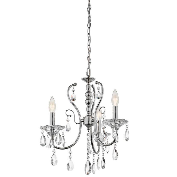 kichler four light chrome up chandelier