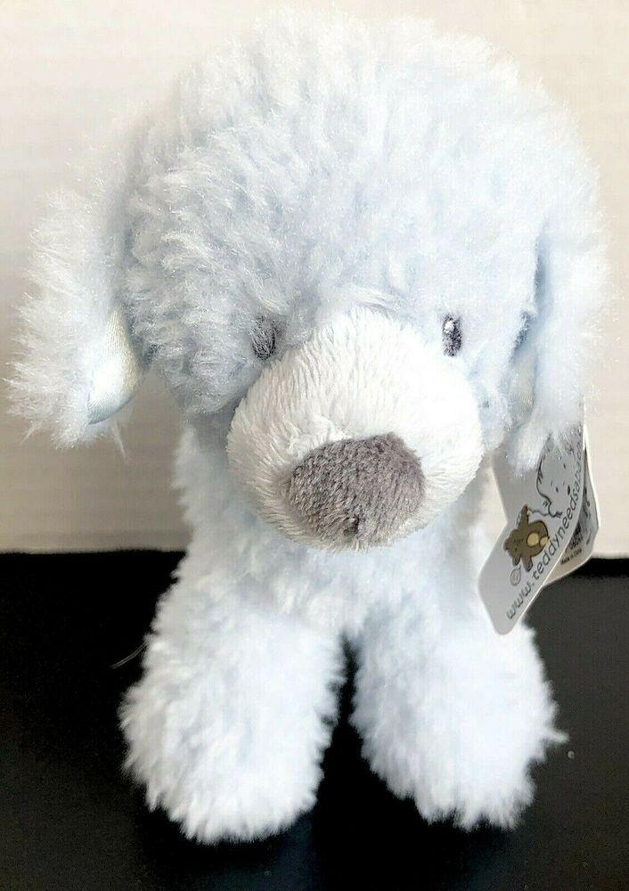 Baby Gund Fluffey Dog Rattle Plush New Blue 55 Gund Great