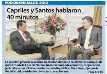 Primera Página Diario 2001, 20 de septiembre de 2012