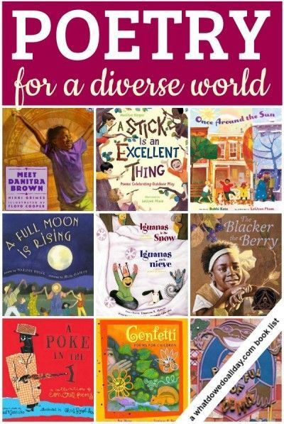 Read Poetry aloud for National Poetry Month!!! This list of diverse poetry books for kids is great.