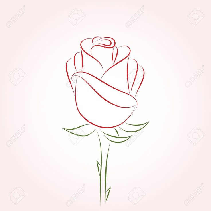 Red Rose Outline. Add two more big petals and Kappa Delta in cursive, like A Xi D daisy
