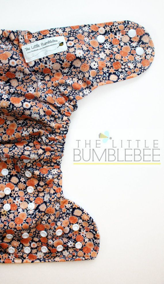 One Size pocket diaper by The Little Bumblebee #clothdiaper