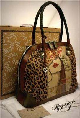Brighton Cover Girl Bowler Fashionista Leopard Hair-on-Calf Leather Bag H3392A NWT